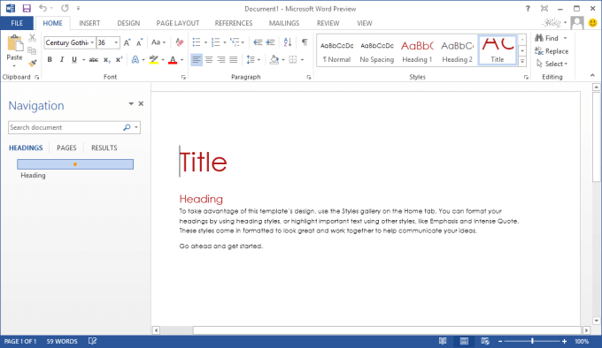 Word sous office 365