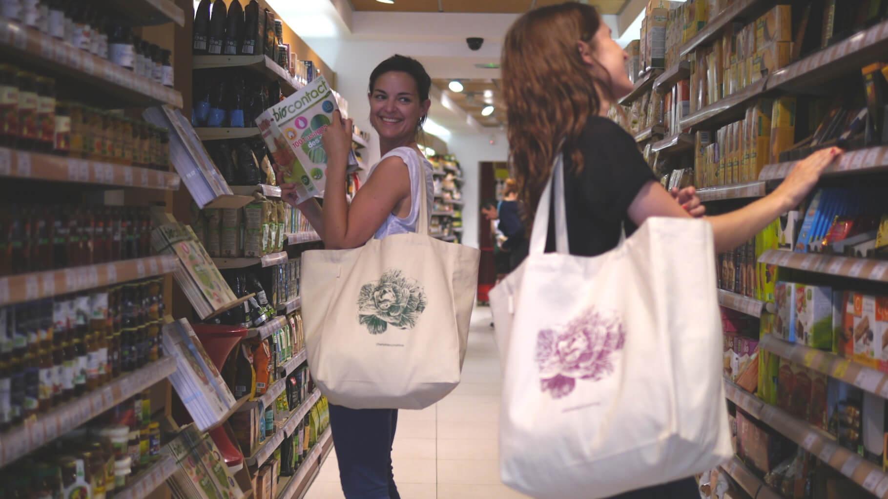 sacs réutilisables pour les courses